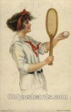 spo024433 - Edward Gross Co., N.Y., USA Artist Alice Fidler Tennis, Old Vintage Antique, Post Card Postcard