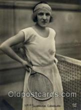 spo024434 - Melle Suzanne Lenglen Tennis, Old Vintage Antique, Post Card Postcard
