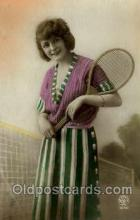 spo024438 - Tennis, Old Vintage Antique, Post Card Postcard