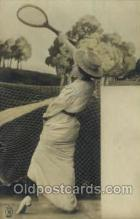 spo024448 - Tennis, Old Vintage Antique, Post Card Postcard