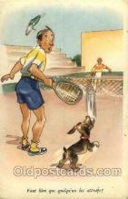 spo024460 - Serie No. 805 Tennis, Old Vintage Antique, Post Card Postcard