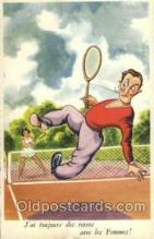 spo024462 - Serie No. 180 Tennis, Old Vintage Antique, Post Card Postcard
