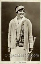 spo024467 - Betty Nuthall Tennis, Old Vintage Antique, Post Card Postcard