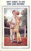 spo024475 - Bamforth Comic, USA Tennis, Old Vintage Antique, Post Card Postcard