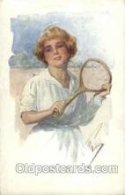 spo024495 - Tennis, Old Vintage Antique, Post Card Postcard