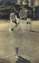 spo024499 - Tennis, Old Vintage Antique, Post Card Postcard