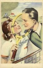 spo024503 - Tennis, Old Vintage Antique, Post Card Postcard