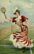 spo024505 - Tennis, Old Vintage Antique, Post Card Postcard
