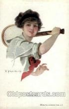 spo024509 - F. Earl Chaisty Tennis, Old Vintage Antique, Post Card Postcard