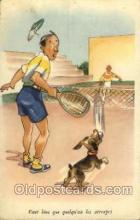 spo024511 - Tennis, Old Vintage Antique, Post Card Postcard