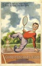 spo024517 - serie Umoristica No. 56 Tennis, Old Vintage Antique, Post Card Postcard
