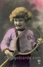 spo024519 - Tennis, Old Vintage Antique, Post Card Postcard