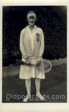 spo024548 - Miss Joan Ridley Tennis, Old Vintage Antique, Post Card Postcard
