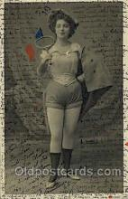 spo024564 - Tennis, Old Vintage Antique, Post Card Postcard