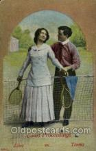 spo024571 - Tennis, Old Vintage Antique, Post Card Postcard
