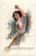 spo024574 - Artist Usable, Tennis, Old Vintage Antique, Post Card Postcard