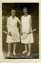 spo024582 - Miss Heiner and Mrs Peacock Tennis, Old Vintage Antique, Post Card Postcard