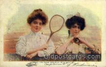 spo024586 - Tennis, Old Vintage Antique, Post Card Postcard