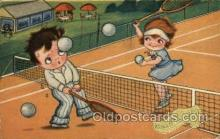 spo024588 - Vroolykkerstfeest Tennis, Old Vintage Antique, Post Card Postcard