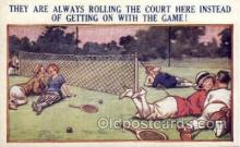 spo024593 - No. 025 Tennis Comic, Bamforth Comic, USA Tennis, Old Vintage Antique, Post Card Postcard