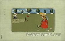 spo024602 - Ser 562 Tennis, Old Vintage Antique, Post Card Postcard