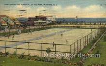spo024606 - Tennis Court and Boardwalk, Fox Park, Wildwood, N.J., USA Tennis, Old Vintage Antique, Post Card Postcard