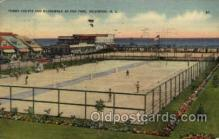 spo024611 - Tennis Court and Boardwalk, Fox Park, Wildwood, N.J., USA Tennis, Old Vintage Antique, Post Card Postcard