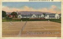 spo024612 - Bennington College, Bennington, VT.,USA Tennis, Old Vintage Antique, Post Card Postcard