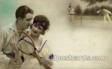 spo024615 - Tennis, Old Vintage Antique, Post Card Postcard