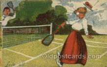 spo024616 - Tennis, Old Vintage Antique, Post Card Postcard