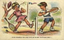 spo024629 - I. Gougeon Tennis, Old Vintage Antique, Post Card Postcard