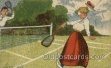 spo024631 - Tennis, Old Vintage Antique, Post Card Postcard