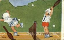 spo024635 - Tennis, Old Vintage Antique, Post Card Postcard