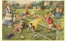 spo024644 - Racey Helps, The Medici Society Ltd., London Tennis, Old Vintage Antique, Post Card Postcard