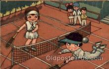 spo024645 - Tennis, Old Vintage Antique, Post Card Postcard