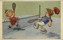 spo024653 - Tennis, Old Vintage Antique, Post Card Postcard