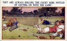 spo024668 - No. 025 Tennis Comic, Bamforth Comic, USA Tennis, Old Vintage Antique, Post Card Postcard