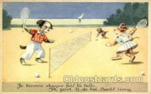 spo024672 - Tennis, Old Vintage Antique, Post Card Postcard