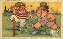 spo024673 - No. C-5, C. T. Art and Sports Comics Tennis, Old Vintage Antique, Post Card Postcard