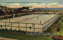 spo024680 - Fox Park, Wildwood, The Sea, N.J., USA Tennis, Old Vintage Antique, Post Card Postcard
