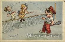 spo024684 - Tennis, Old Vintage Antique, Post Card Postcard