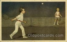 spo024686 - Tennis, Old Vintage Antique, Post Card Postcard
