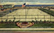 spo024687 - Fox Park, Wildwood, The Sea, N.J., USA Tennis, Old Vintage Antique, Post Card Postcard
