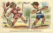spo024689 - I. Gougeon Tennis, Old Vintage Antique, Post Card Postcard
