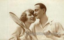 spo024693 - Tennis, Old Vintage Antique, Post Card Postcard