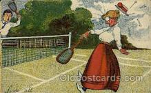 spo024696 - Tennis, Old Vintage Antique, Post Card Postcard