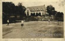 spo024697 - Ray Hill Camp, MT. Kisco, N.Y., USA Tennis, Old Vintage Antique, Post Card Postcard
