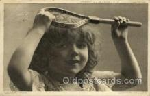 spo024698 - Merry MEG., No. 5374 Tennis, Old Vintage Antique, Post Card Postcard