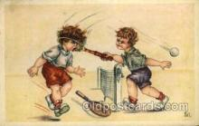 spo024711 - Tennis, Old Vintage Antique, Post Card Postcard