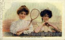 spo024712 - Tennis, Old Vintage Antique, Post Card Postcard